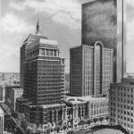 222 Berkley St., Boston - black and white monochrome pencil architectural illustration rendering by Frank Costantino