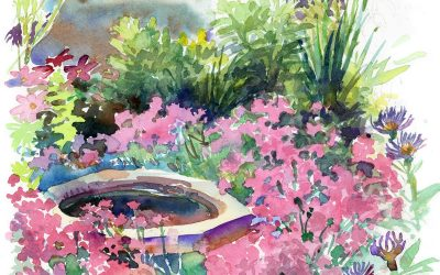 Alexandra's Pinks – watercolor floral painting
