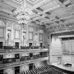 Boston Symphony Hall - black & white architectural illustration drawing by Frank Costantino