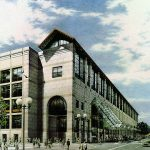 Hynes Convention Center - colored pencil architectural illustration rendering by Frank Costantino