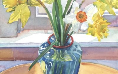 Jonquil Septet – watercolor floral painting