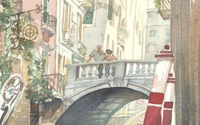 Light, Love, Allure of Venice – watercolor landscape painting of venice italy