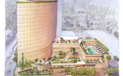 Mandarin Hotel, CA – watercolor architectural illustration rendering