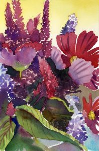 Nantucket Bouquet - watercolor floral painting by Frank Costantino