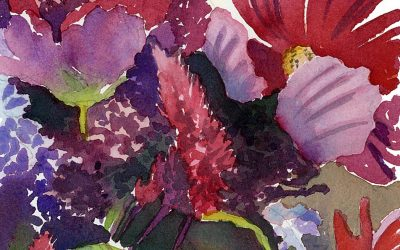 Nantucket Bouquet – watercolor floral painting