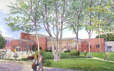 Penn State Teachers' Center, PA – watercolor architectural illustration rendering