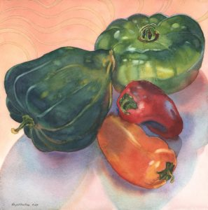 Ratatouille Quartet - watercolor still life painting by Frank Costantino