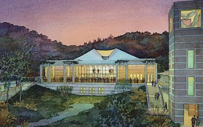 Skirball Cultural Center, Los Angeles, California – watercolor architectural illustration rendering by Frank Costantino