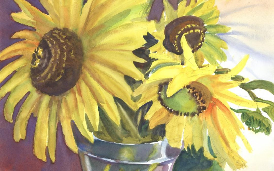 Sol's Blossoms – watercolor floral painting