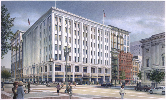 Terrell Place, Washington D.C. – colored pencil architectural illustration rendering