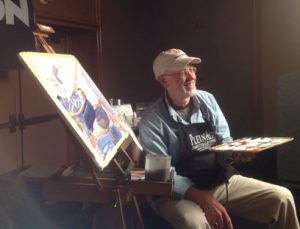 Frank M. Costantino - painting a watercolor demo